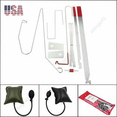 Universal Car Lock Out Emergency Tool Kit Unlock Door Open Kit  & Air Pump Wedge