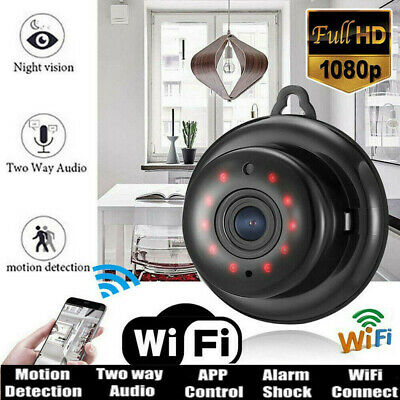 Mini Wireless 1080P HD WIFI IP Camera Smart Home Security Camera Night Vision UK