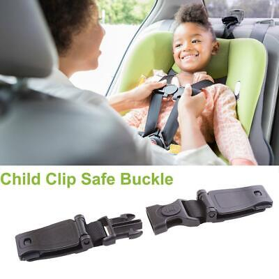 Black Car Baby Safety Seat Strap Belt Harness Chest Clip Child Safe Lock Buckle