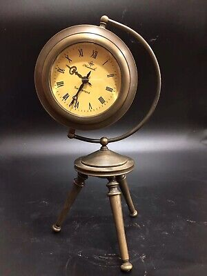 Chinese Old copper handwork ball Mechanical clock table  Home decoration