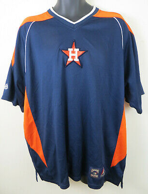 Majestic Cooperstown Collection Houston Astros Baseball Jersey Shirt Mens Large