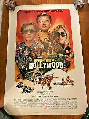 Once Upon a Time in Hollywood Final Movie Poster 27x40 *NEW* Tarantino, DiCaprio