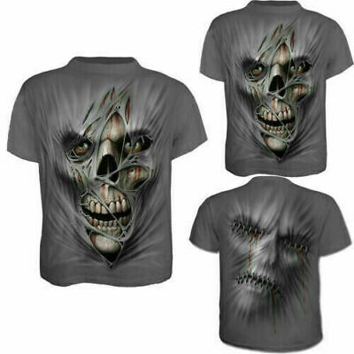 3D Printed Fashion Men's T-shirt Clothing Casual Short Sleeve Silk Tops Skull