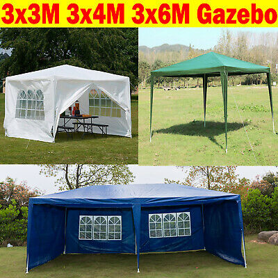 Gazebo Marquee Party Tent With Sides Waterproof Garden Outdoor Canopy 3x/3/4/6m