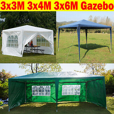 Heavy Duty Waterproof Gazebo Wedding Party Tent with Sides Full Cover 3x/3/4/6m
