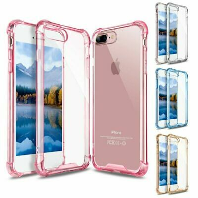 For i Phone 7 8 Plus X XS Max Clear Protective Hard Case Bumper Shockproof Cover
