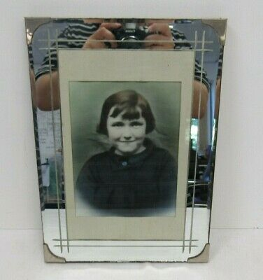 "Antique Mirror Edged Photo frame 10"" x 14"" - CBN P37UP"