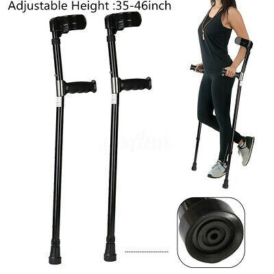 2pcs Adjustable Forearm Medical Stabilising Crutches Aluminum alloy Elbow Armor