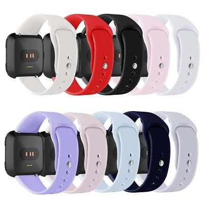 HR- Sport Solid Silicone Smart Watch Band Strap Bracelet for Fitbit Versa Reliab