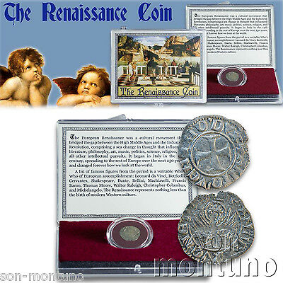 THE RENAISSANCE COIN  Medieval European Venice Italian Antique BOX & CERTIFICATE