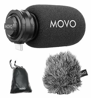 Movo TPM100 Directional Cardioid Microphone with USB-C Connector for Smartphones