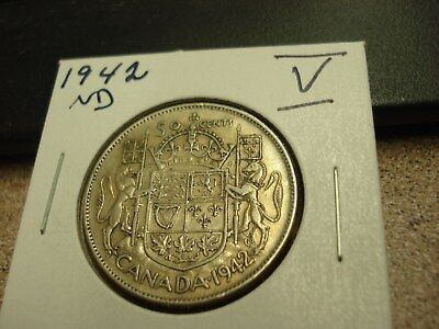1942 ND - Canada - Silver 50 cents - Circulated half dollar -