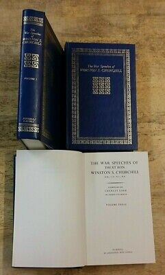 Volumes 1 - 3 The War Speeches Of Winston S. Churchill ** Free Uk Post ** H/B
