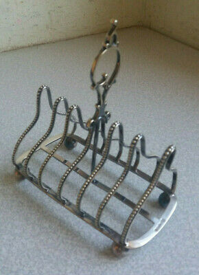 Stunning Antique Victorian  Silver Plated Toast Rack-  Thomas Prime 1870S