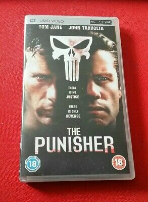 The Punisher UMD PSP Thomas Jane John Travolta Marvel Action Superhero