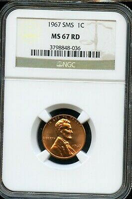 1967 Sms 1C Ngc Ms 67 Rd (Mint State 67 Red) Lincoln Memorial Cent Ta544