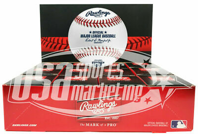 (12) 2019 All Star Futures Rawlings MLB Game Baseball Cleveland Boxed - Dozen