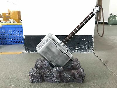 USA Thor's Hammer Full Set Stand Base + Hammer The Avengers Resin Cosplay Prop