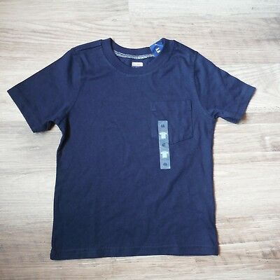 Old Navy boys Dark blue Tee shirt with pocket Short Sleeve size 4T new tags