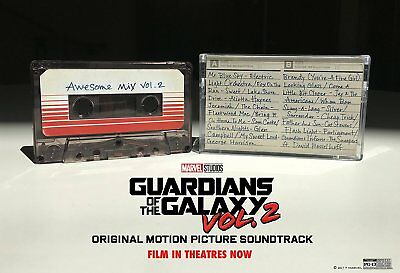 GUARDIANS OF THE GALAXY Awesome Mix Vol 2 Cassette Tape NEW