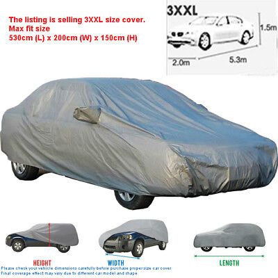 AU Durable Car Cover UV Resistance Anti Scratch Dust Dirt Full Protection XXL