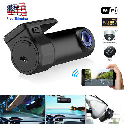 WIFI Dash Cam HD 1080P Car DVR Camera Video Recorder Wide Angle G-sensor 12V US