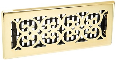 Floor Register Air Vent Scroll Brass Cover 4 x 12 inch NEW
