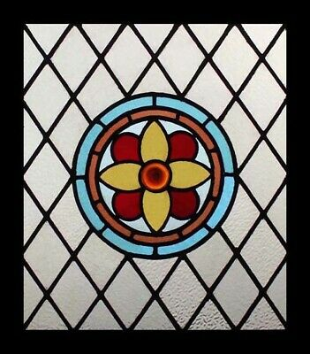 Pretty Victorian Rondel Charmer Antique English Stained Glass Window