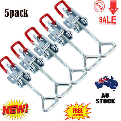 5x Stainless Steel Latch Catch Cabinet Boxes Handle Toggle Tool Lock Clamp Hasp