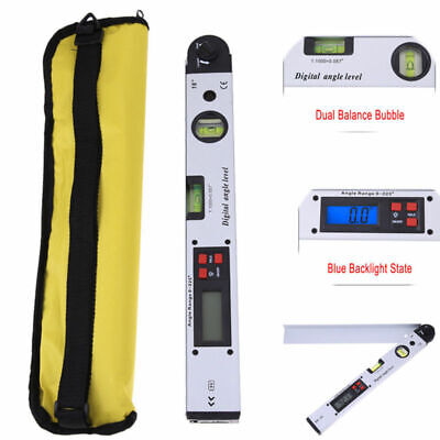 0~225° 400mm LCD Digital Protractor Dual Spirit Level Angle Meter Finder Gauge