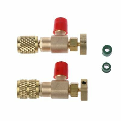 2X Safety Valve R410A R22 Air Conditioning Quick Coupler Connector Adapters