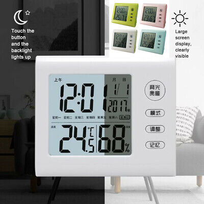 Multi-Function Alarm Clock Thermometer And Hygrometer Electronic Display Clock