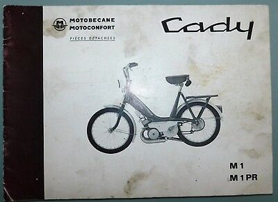 Ancien Catalogue Pieces Detachees 1975 Cady Motoconfort Motobecane M1-M1Pr