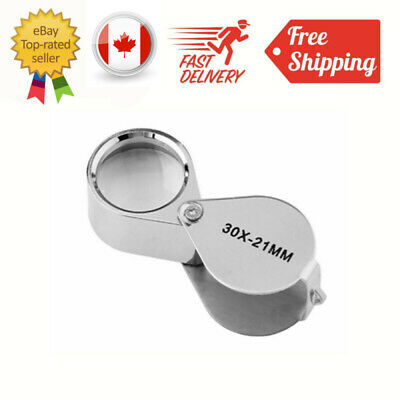 New 30X21mm Jeweler Loupe Magnifier Magnifying Glass for Jewelry Diamond + Box