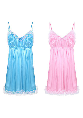 Prissy Sissy Maid Adult Baby CD/TV Satin Soft Babydoll
