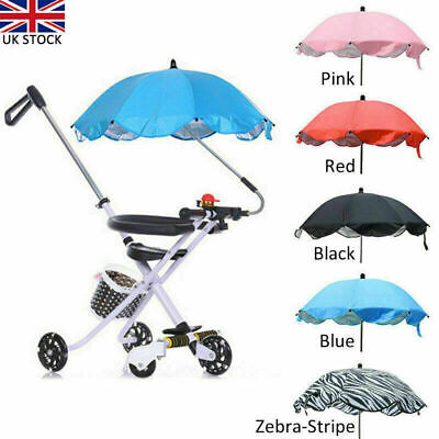 Baby Pram Umbrella Parasol Sunshade For Stroller Pushchair With Fixing Clamp UK