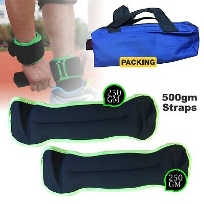 Wrist Ankle Weights Resistance Strength 500gm Training Exercise Bracelets Straps