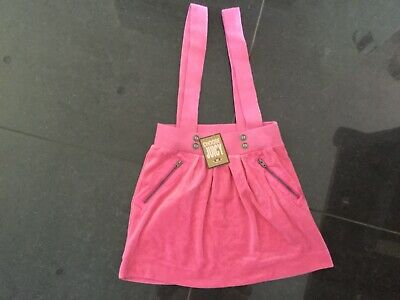 NWT Juicy Couture New & Gen Girls Age 8 Pink Velour Cotton Skirt Overall &  Logo