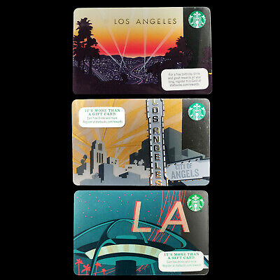 Starbucks City Gift Card 2011,14,15 Los Angeles City of Angels 6108 6099 6076