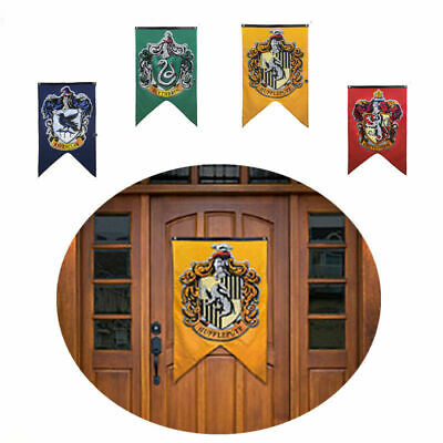 Harry Potter Hogwarts House Wall Banners Set of 4 Flags 75*125cm Usable Vo#wno
