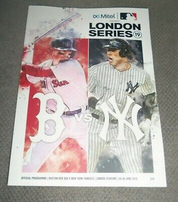 Mlb London Series 2019 Boston Red Sox New York Yankees Official Programme - New