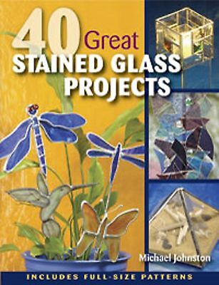 Stained Glass Pattern Book 40 Great Stained Glass Projects Full Size Patterns