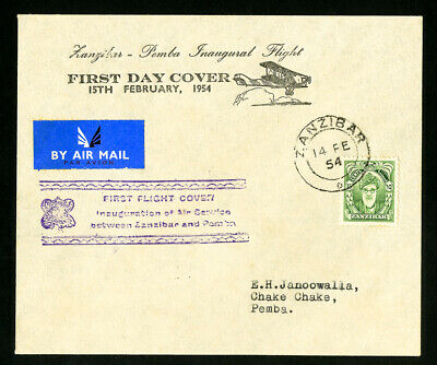 Zanzibar Scarce First Flight Early Stamp Cover FDC