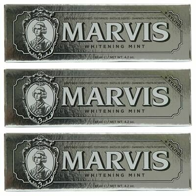 Marvis Toothpaste Whitening Mint 85ml x 3 Triple Pack Deal