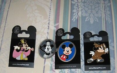 Disney Trading Pin Lot Princess Minnie Mouse Mickey Mouse Detective 80 Years