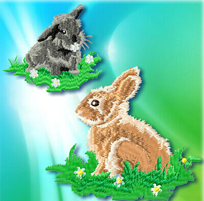 REALISTIC RABBIT  10 MACHINE EMBROIDERY DESIGNS CD or USB