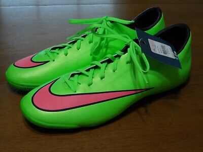 15584e702aa96 Nike Mercurial Victory IV IC Indoor Soccer Shoes Size 12 2014 Neon Green New
