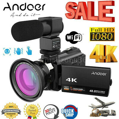 4K 1080P HD 48MP 16X ZOOM Digital Video Camera Camcorder DV Night  Vision