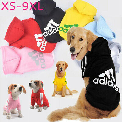 Pets Dog Clothes Winter Casual Adidog Warm Hoodie Coat Jacket Clothing For Dogs