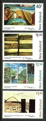 1997 NEW ZEALAND PAINTINGS COLIN McCAHON SG2074-2077 mint unhinged